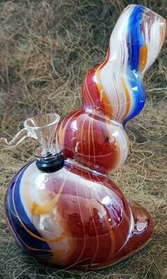 Colour Glass Bong - 20cm