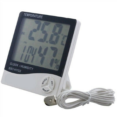 Large Display Temperature & Humidity Meter With Temperature Probe