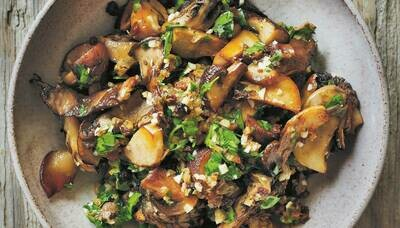 Roasted Mushrooms, Gremolata-Style