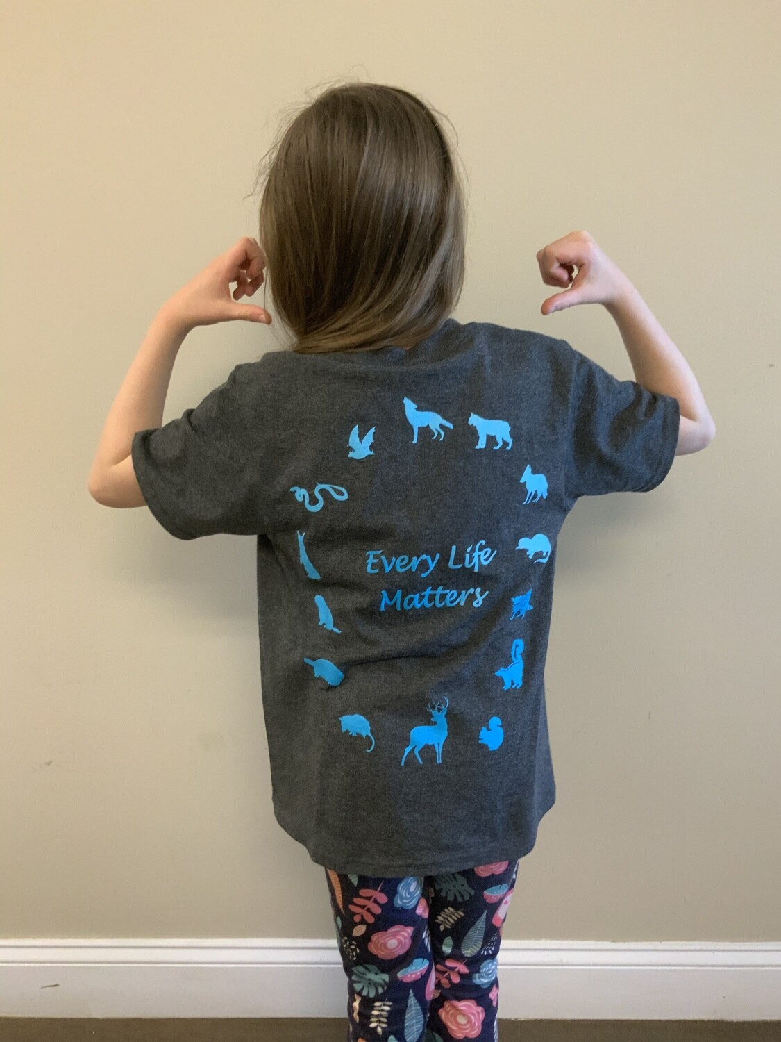 Every Life Matters Kids T-Shirt - in heather grey