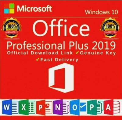 Office 2019 Pro Plus 32/64 Bit Download License Original for 1PC