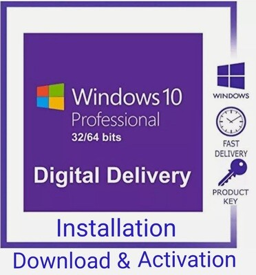 Microsoft Windows 10 Pro and Installation  Only