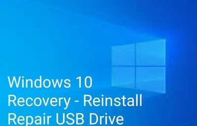 Windows 10 Pro - Home x64 Bootable Recovery, Reinstall, Repair USB
