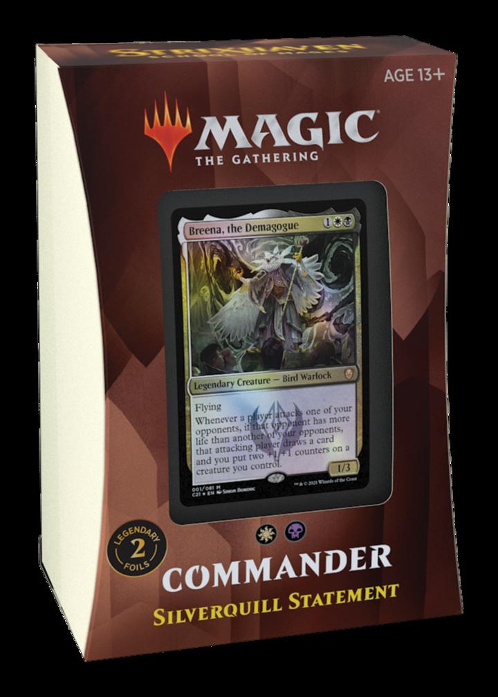 MTG - Strixhaven - Silverquill Statement Commander