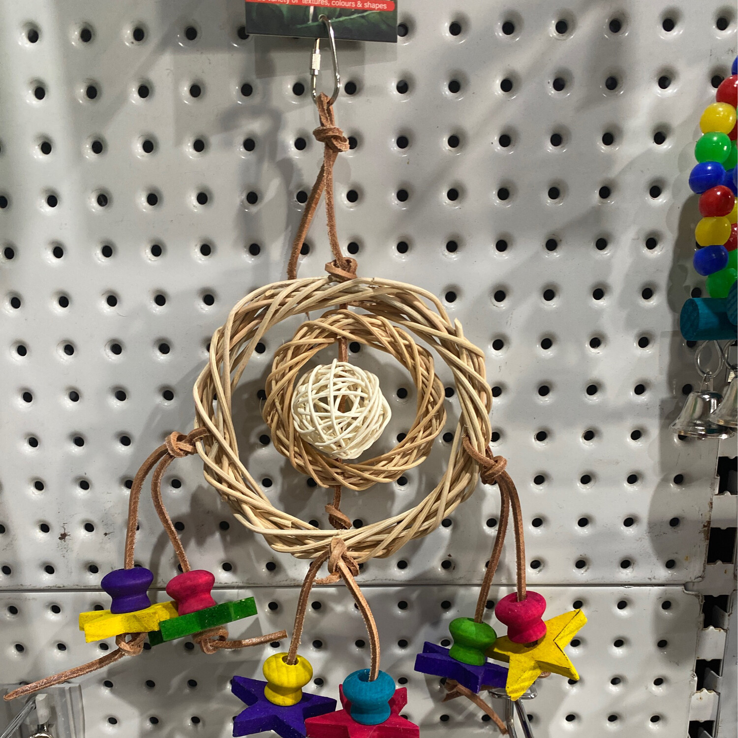 Birdie Wicker Ring with Moon