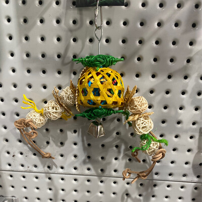 Birdie Foraging Pineapple Toy Small