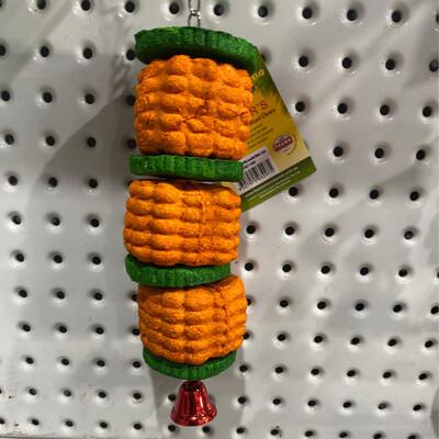 Birdie Nibbler Jumbo Corn with Cucumber Slices