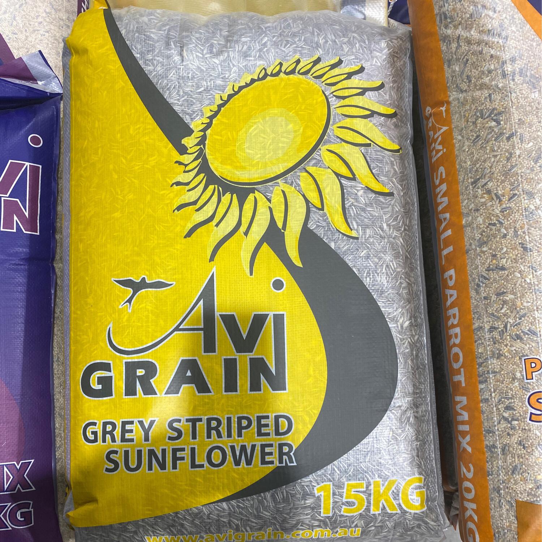 Avigrain Grey Stripe Sunflower 15kg