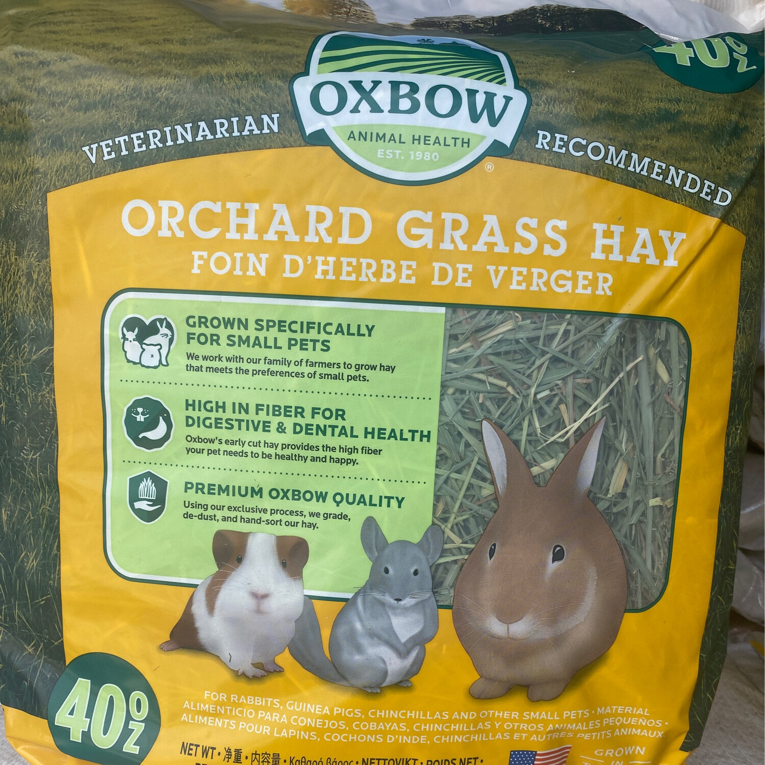 Oxbow Orchard Grass Hay 1.13kg
