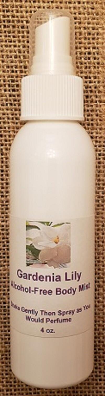 Alcohol Free Body Mist - Gardenia Lily for Women Type