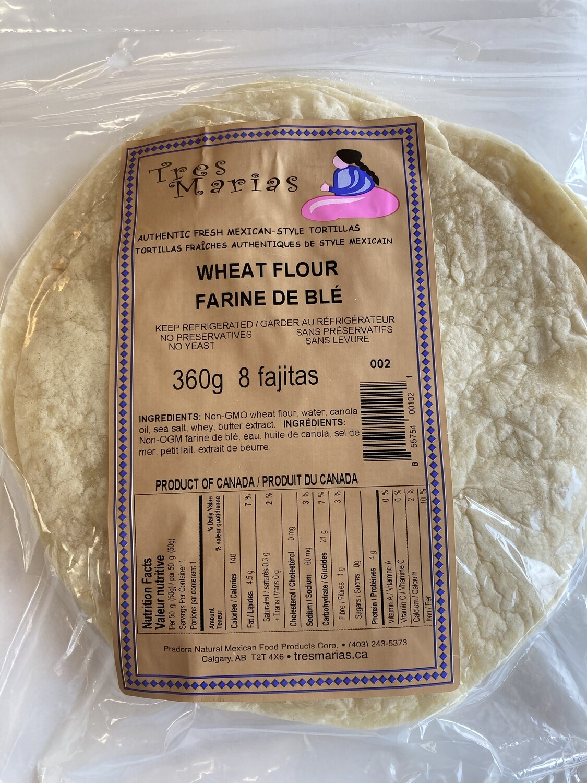 "Wheat Flour Tortillas 8"" 8 Fajitas"