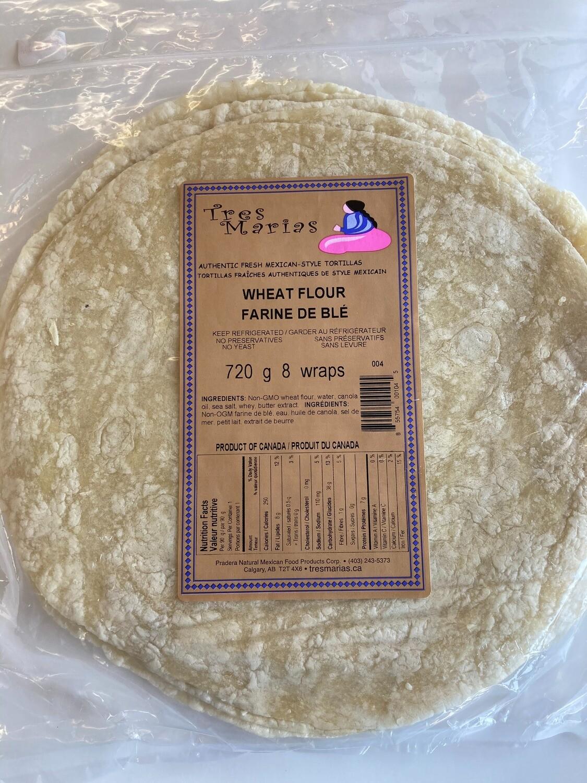 """Wheat Flour Wraps  11"""" 8 pcs"""