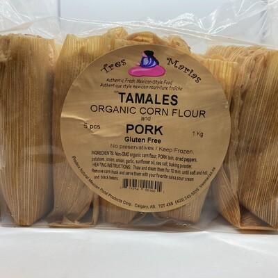 Tamales Pork in adobo Mild 5 pcs 1 kg