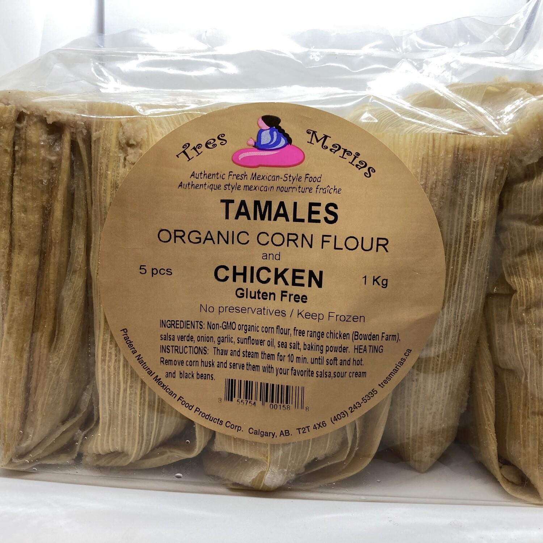 Tamales Chicken w salsa verde Mild 5 pcs 1 kg