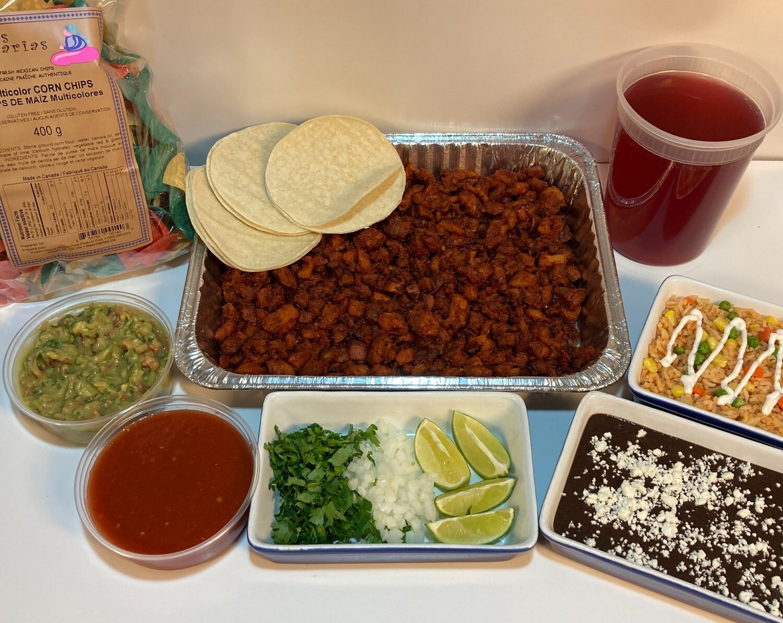 Taco Tray Fiesta Family Pack- Carne Asada (Beef)