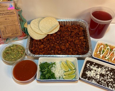 Taco Tray Fiesta Family Pack- Carne Asada (Beef)
