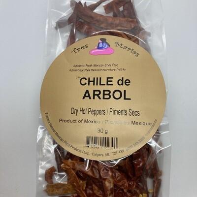 Chile de Arbol Extra Hot 30 g