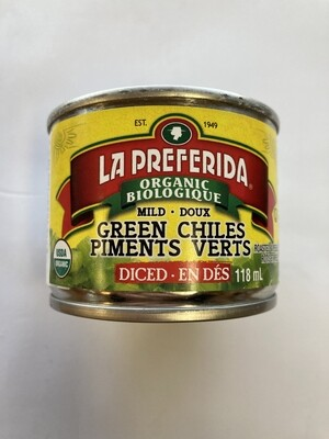 La Preferida Organic Green Chiles 118 ml