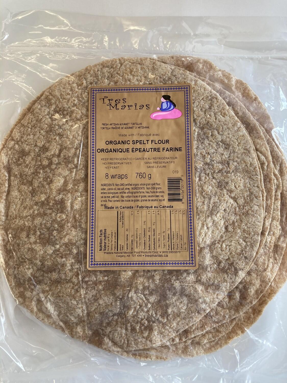 Organic Spelt Flour Wraps 8 pcs