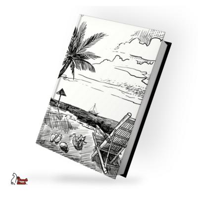 Vacation on Beach Sketch Hardbound Diary