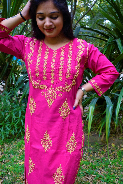 Cotton Kurti (Pink)