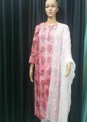 Kota Silk Kurtis (Pink)