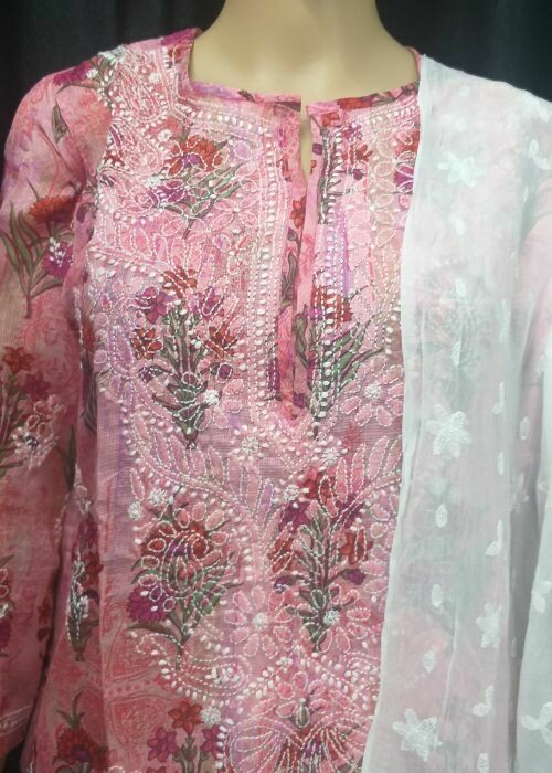 Kota Silk Kurits (Light Pink)