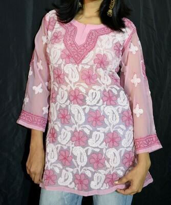 Pink Georgette Top