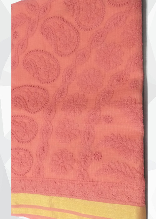 Chanderi Cotton Pink Saree