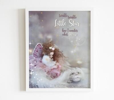 Fairy Print Download/ Fantasy Artwork / Wall Decor / Printable Poster / Fairy Nursery Print / Girls Fairy Print/ Fairy Art Print /