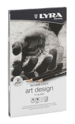 Lyra Art Design Drawing Pencils 6B-4H - 12 Pencils