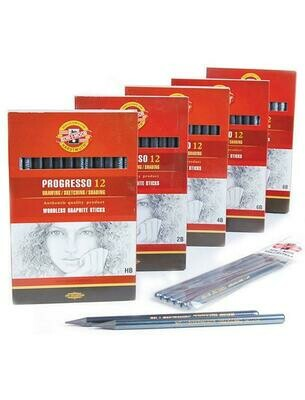 Progresso Woodless Graphite Pencils Lacquered - Box of 12