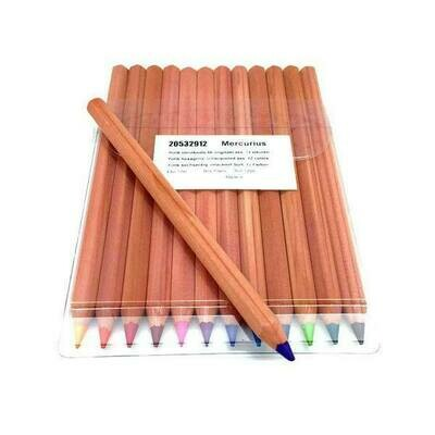Yorik Coloured Pencils Hexagonal - ass. 12 colours