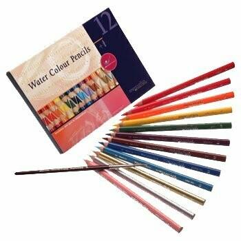 Mercurius Watercolour Pencils - ass. 12 colors +1