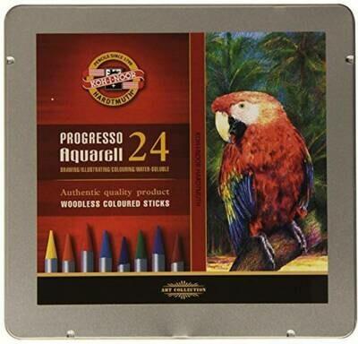 Progresso Woodless Watercolour Pencils- 24 Colours