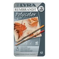 Lyra Rembrandt Polycolor - 12 pencils in Tin Case