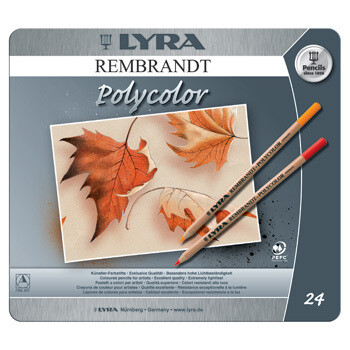 Lyra Rembrandt Polycolor - 24 pencils in Tin Case