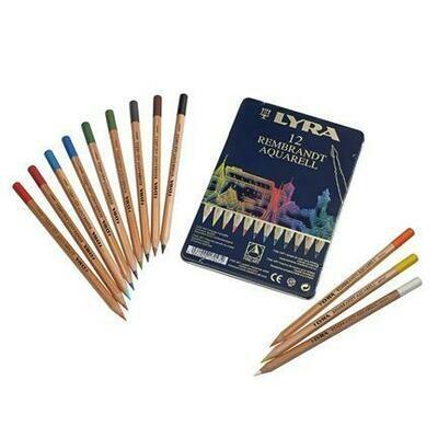 Lyra Rembrandt Aquarell - 12 Pencils in Tin Case