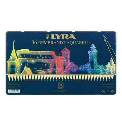 Lyra Rembrandt Aquarell - 36 Pencils in Tin Case