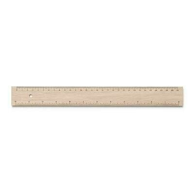 Wooden Ruler with cm/inch from Sustainable Forests