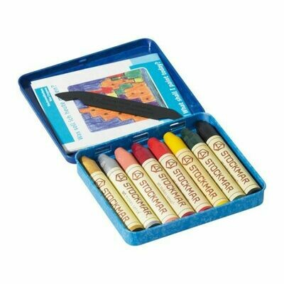 Stockmar Wax Crayons -  Supplementary #2 Tin Case - 8 Assorted