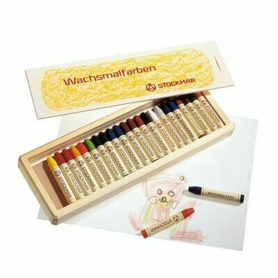 Stockmar Assortment 24 Crayons in Wooden Box