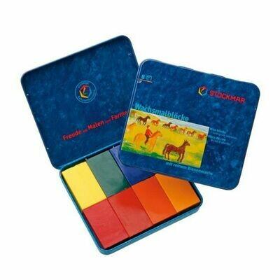 Stockmar Wax Block Crayons Waldorf Tin Case - 8 Assorted