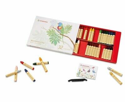 Stockmar Wax Crayons - 32 assorted.