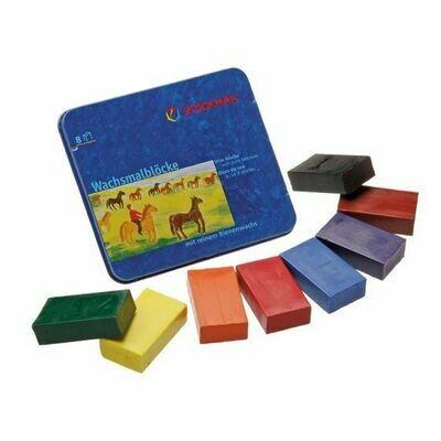 Stockmar Wax Block Crayons Standard Tin Case - 8 Assorted