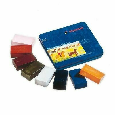 Stockmar Supplementary Ass. 8 Blocks in Tin Case