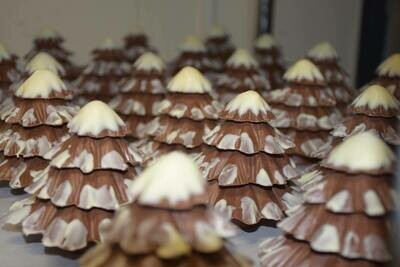 Solid Chocolate Christmas Trees - 3 Dimensional