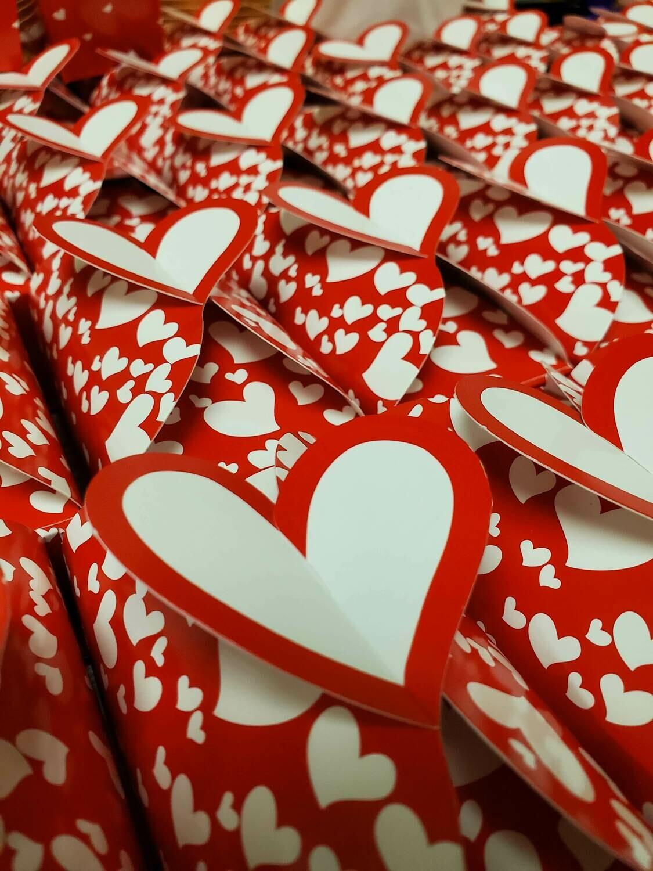 A Dozen Chocolate Hearts