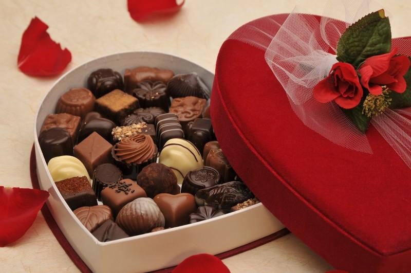 Velvet Valentine Heart Gift Box