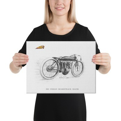 1912 Indian Boardtrack Racer Canvas